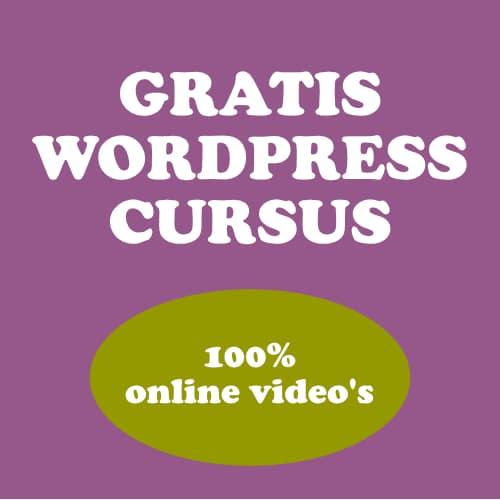 100% GRATIS WORPRESS CURSUS